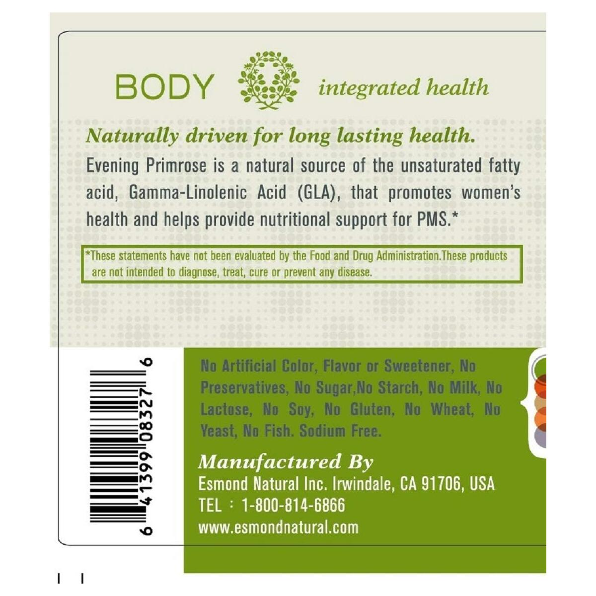 (5 Count, 25% Off) Esmond Natural: Evening Primrose Oil (Promotes Women Health, Natural Support for Women PMS), GMP, Natural Product Assn Certified, Made in USA-1000mg, 300 Softgels
