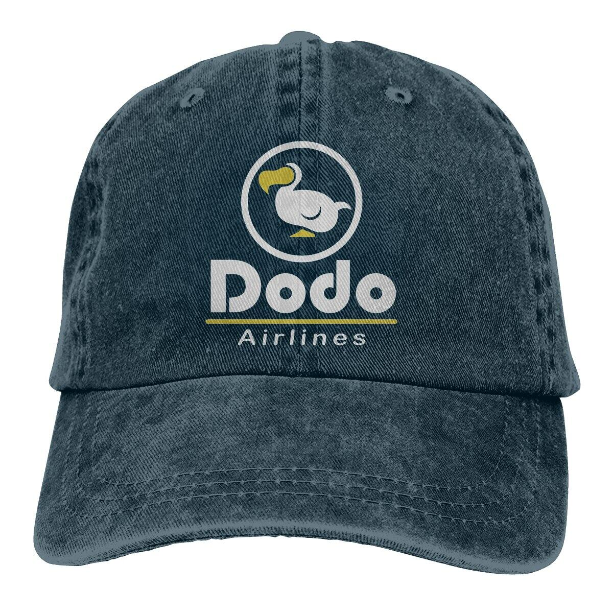 Dodo Airlines Baseball Style Snapback Hat, Navy Blue / One Size