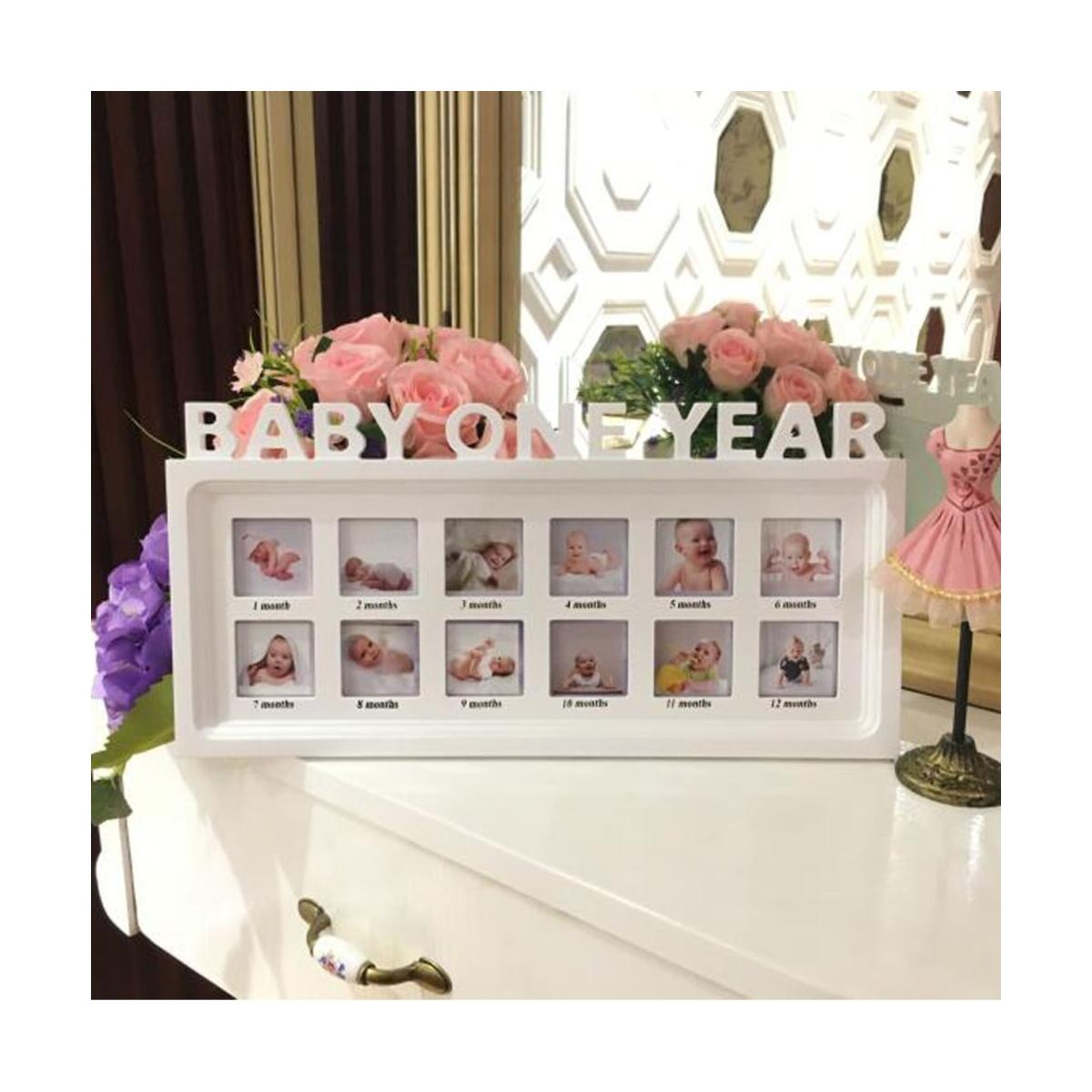 My First Year Frame Baby Picture Keepsake Frame for Photo Memories Newborn Baby Shower Frame