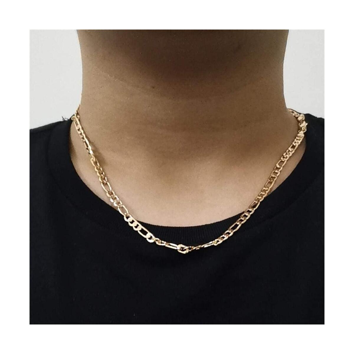 gold cuban chain gold necklace men necklace 24k real gold plated necklace choker chain for men and women girls for gifts