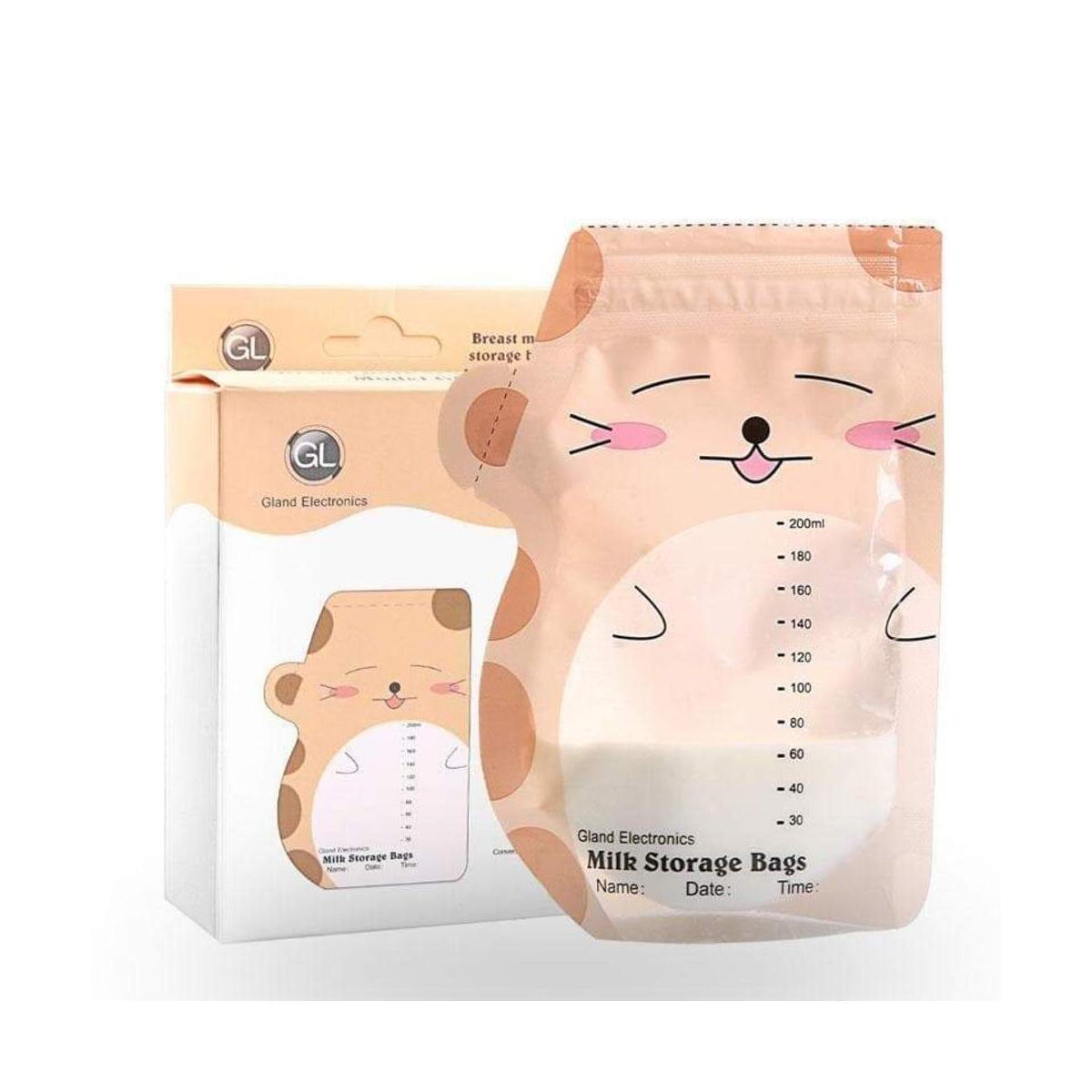 Breast milk storage Zip Top bag