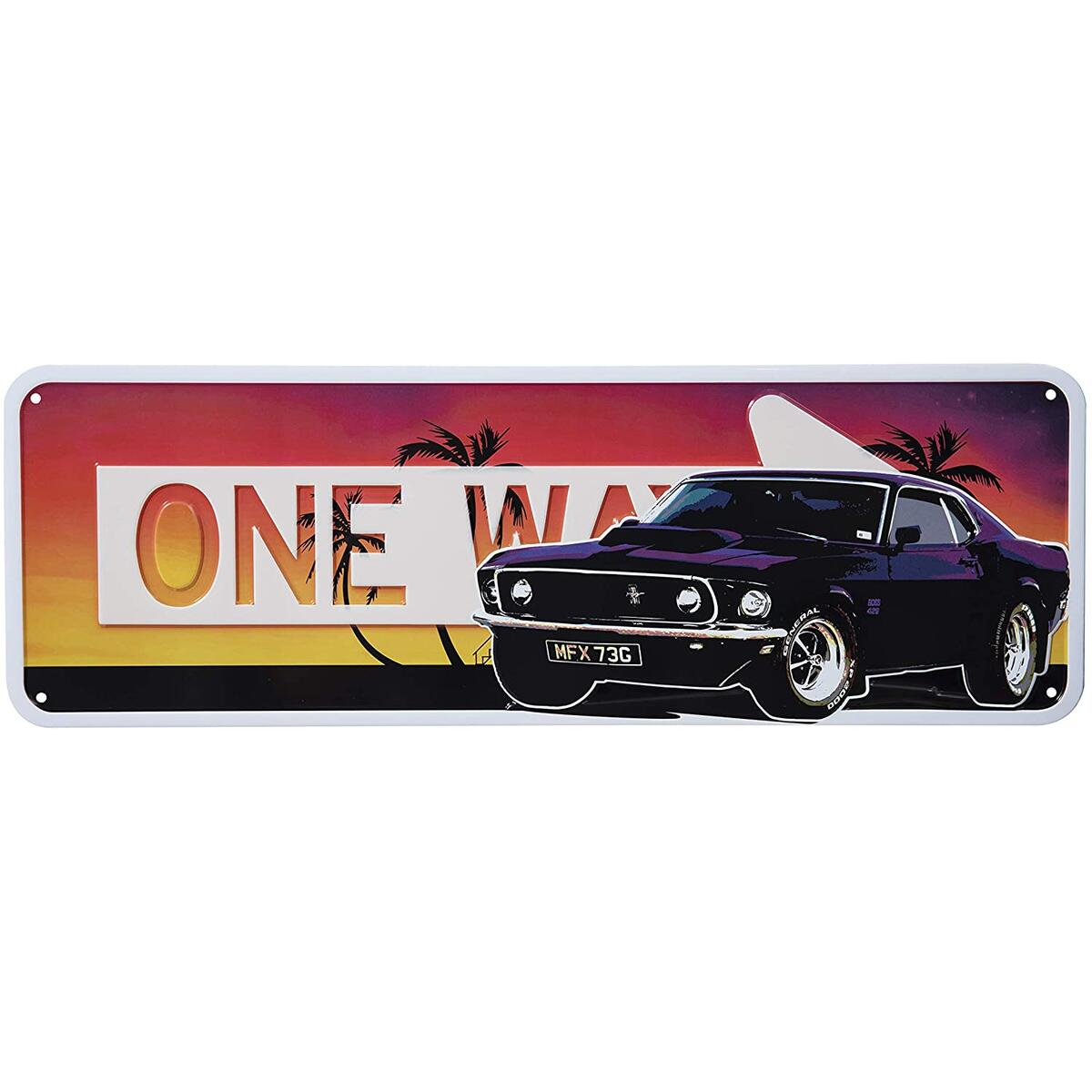 Badger Track Vintage Room Décor Road Sign – Retro Décor Signs – Car License Plate– One Way and Speed Limit Signs – Rustic Garage Décor Signs – Metal Shop Sign (Purple)