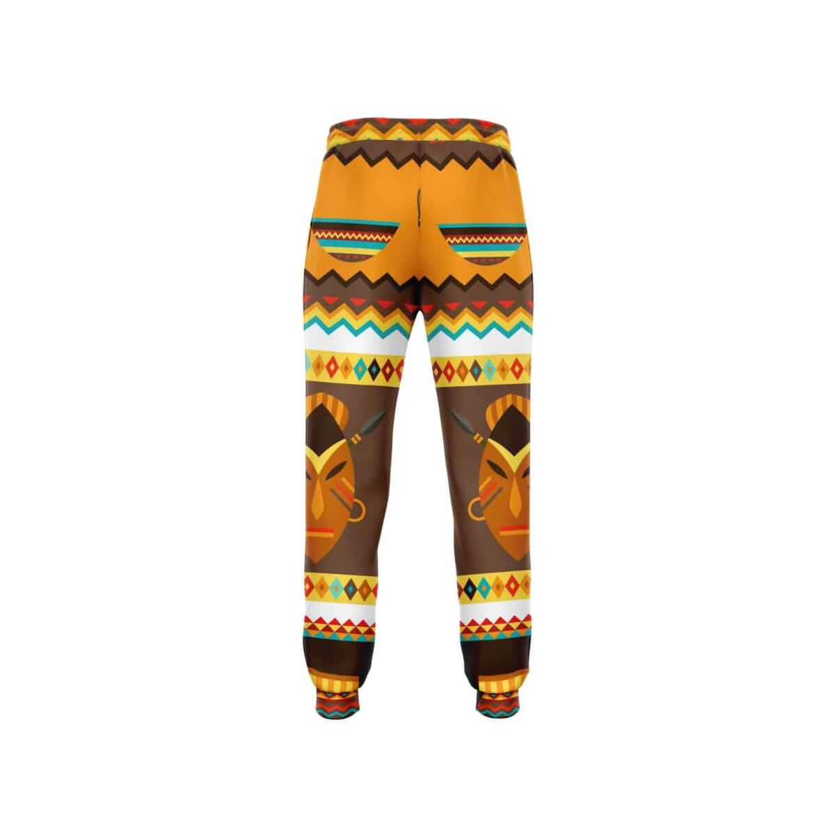 African Djembe Masks Jogger Sweatpants