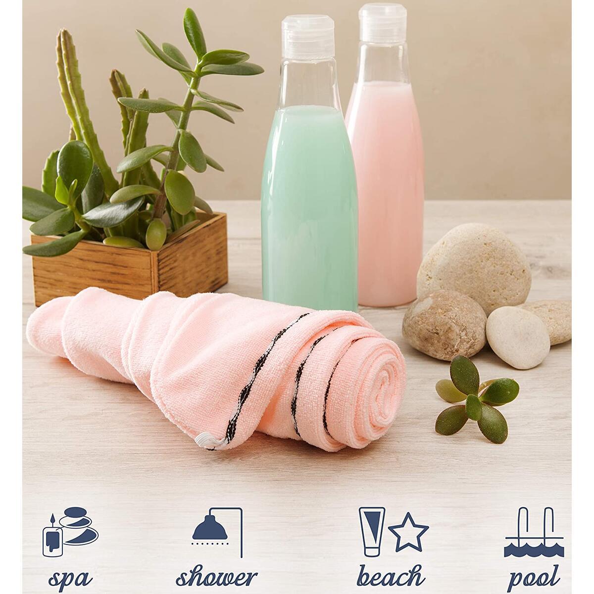 BBMaxPro Microfiber Dress Towel (Turban Pink) Towel Wraps for Women