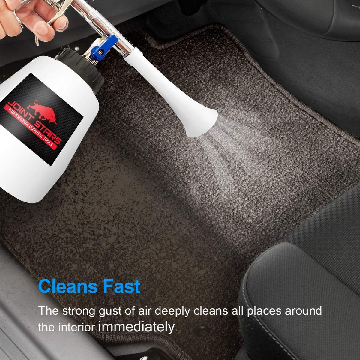 JOINT STARS High Pressure Car Cleaning Gun Jet Cleaner High Pressure Cleaner Car Interior Detailing Kit High Pressure Car Cleaning Tool for Detailing Supplies, Silver