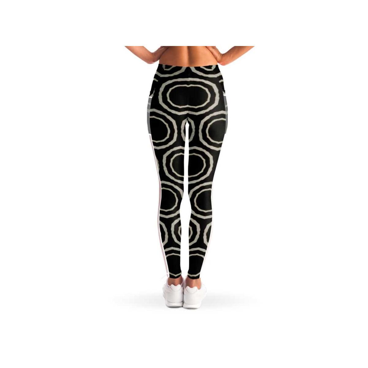 Bogolan B W Circle Mesh Pocket Legging