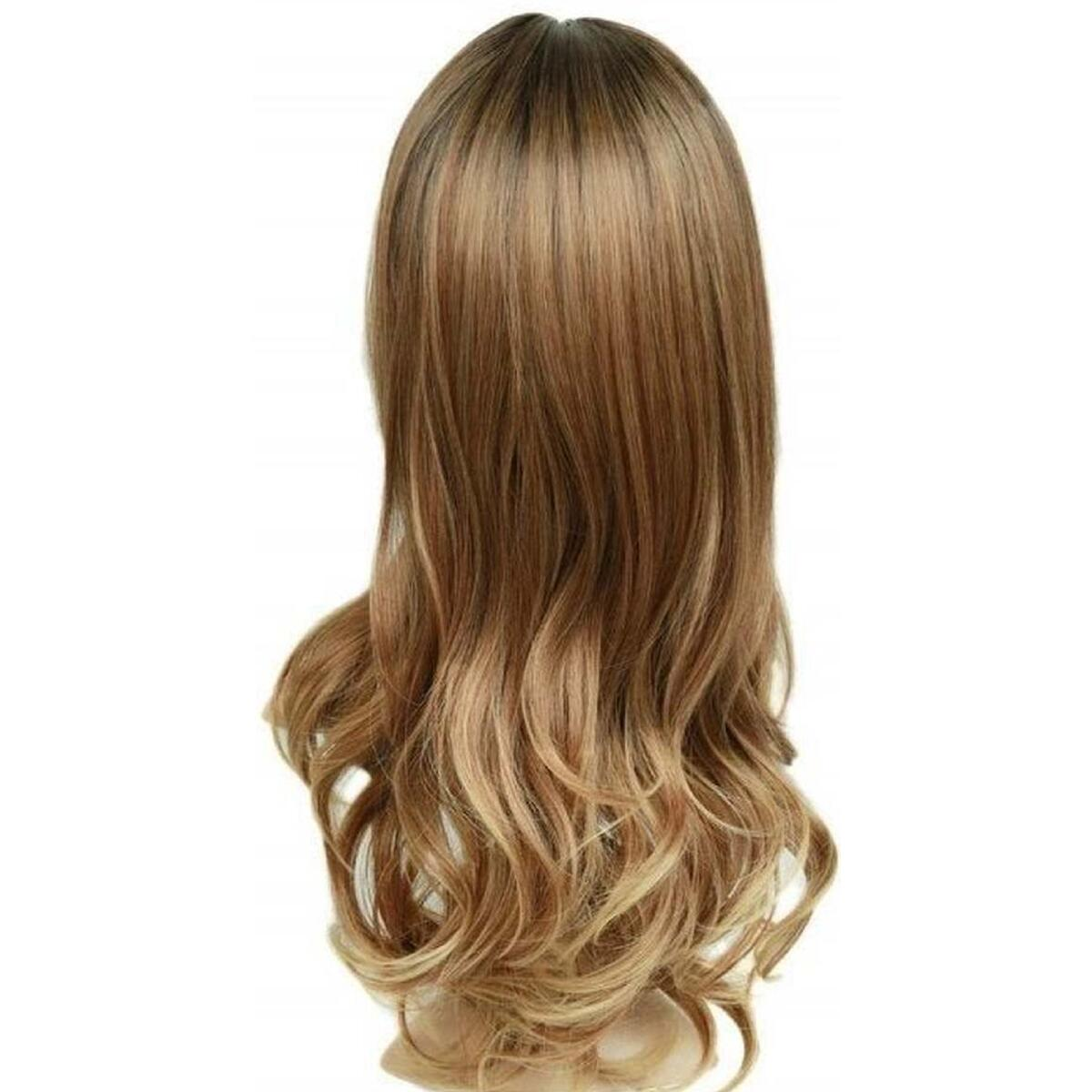 Golden Brown Black Ombre Synthetic Wig
