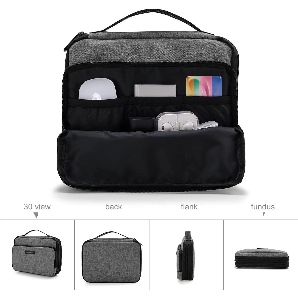 BAGSMART 3-Layer Travel Electronics Cable Organizer with Bag for 7.9