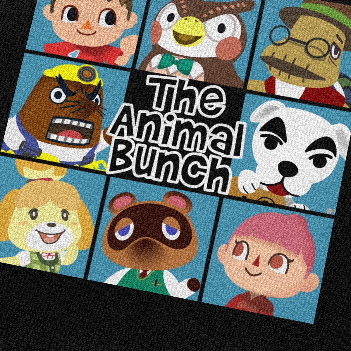 Animal Crossing Brady Bunch Style Shirt, Black / XS