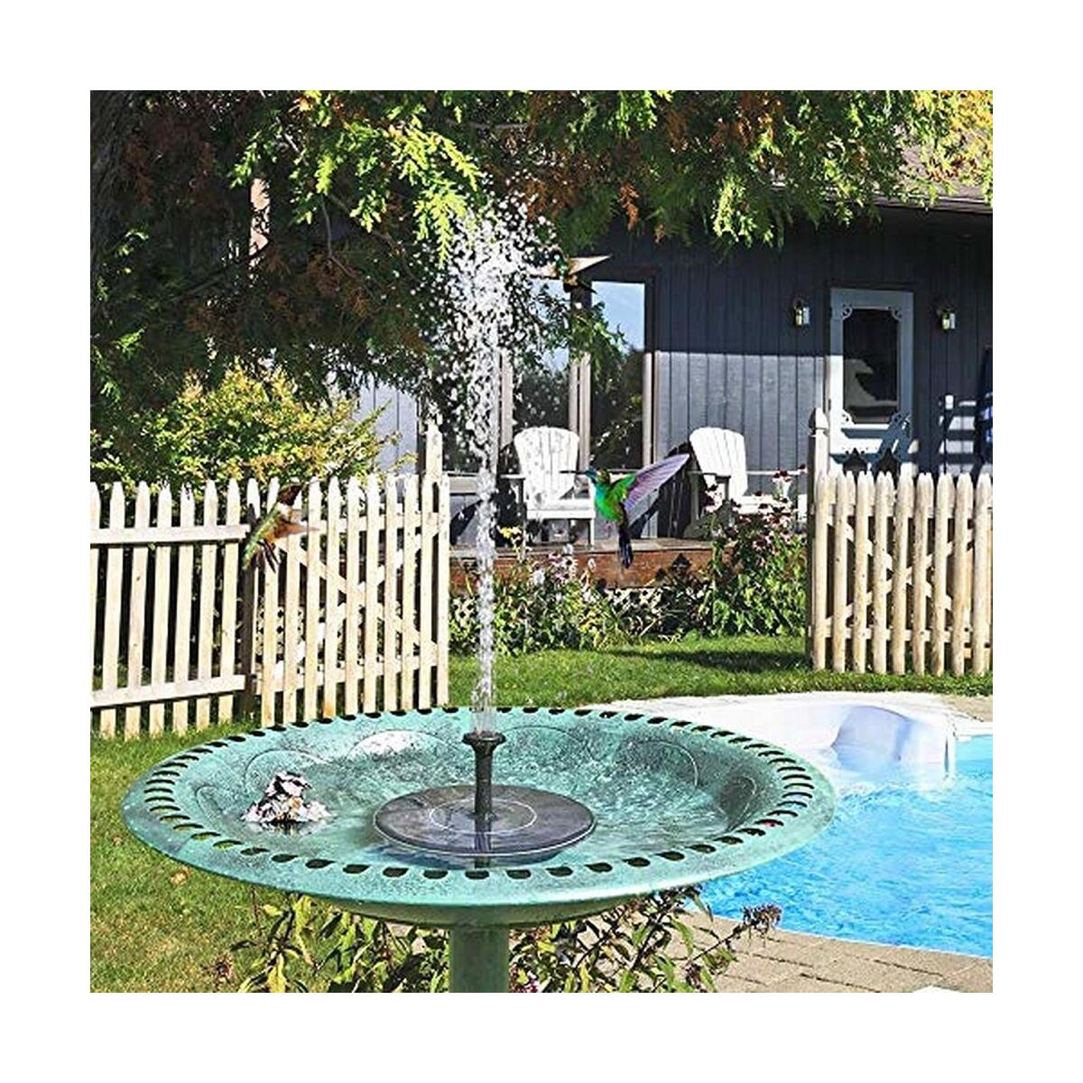Upgraded Submersible Solar Water Fountain for Bird Bath Small Pond Garden and Lawn