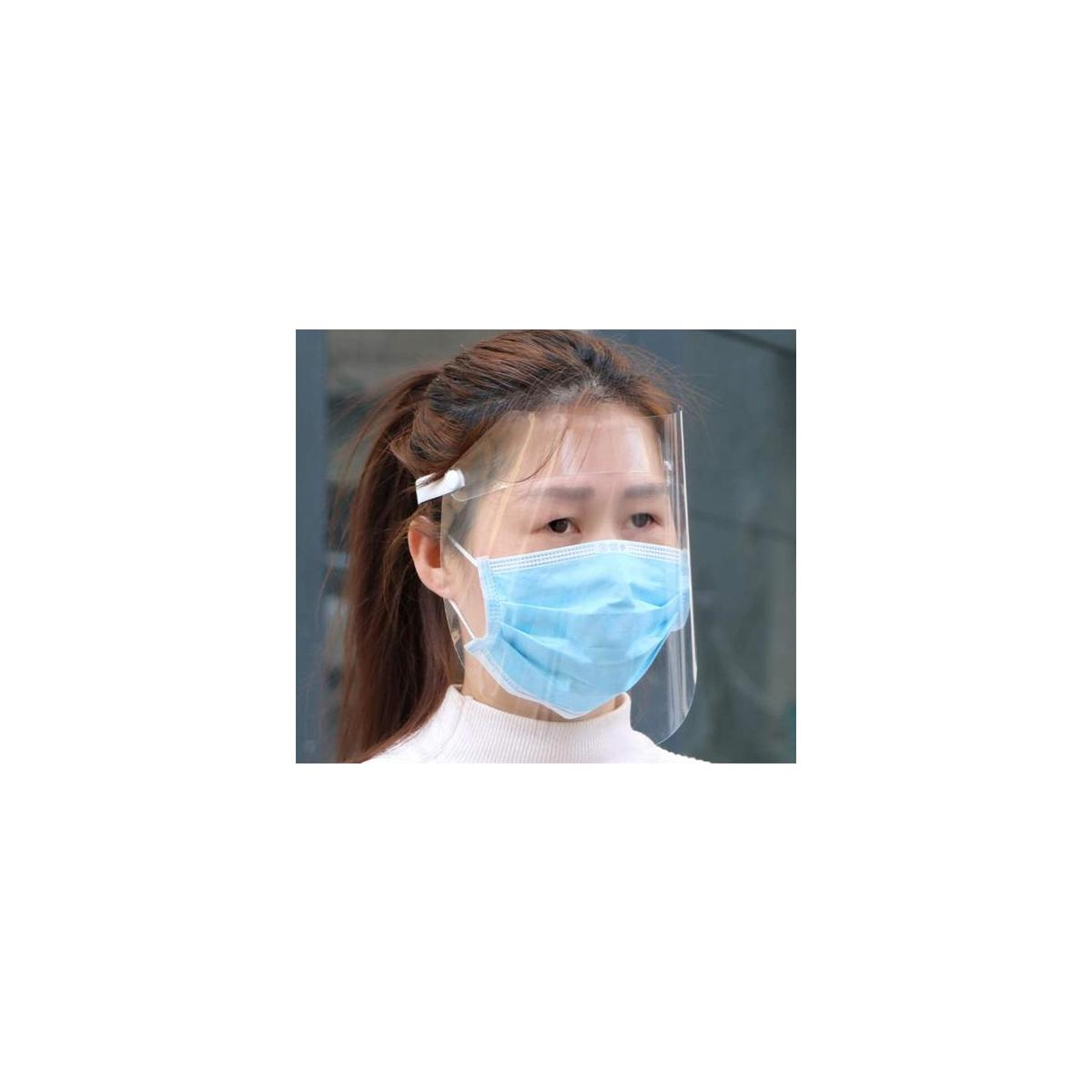 Transparent Anti-Fog Protective Face Screen Drip-Proof Dust-Proof Rain-Proof Oil-Proof Full-Face Screan Sun Visor