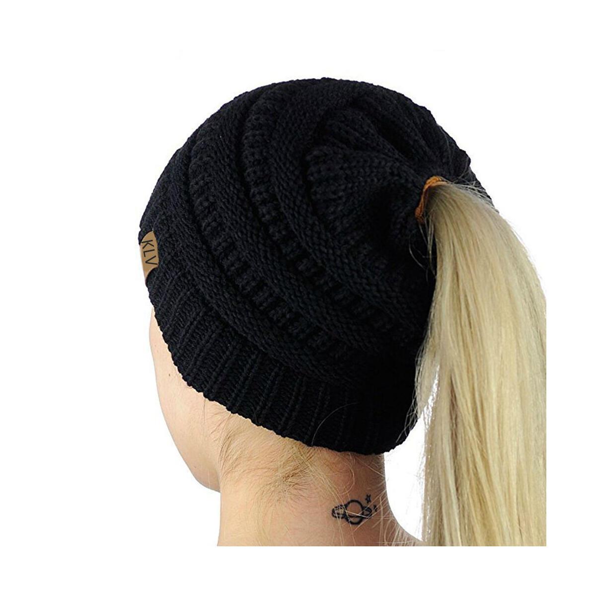 Crochet Ponytail Beanie Cap