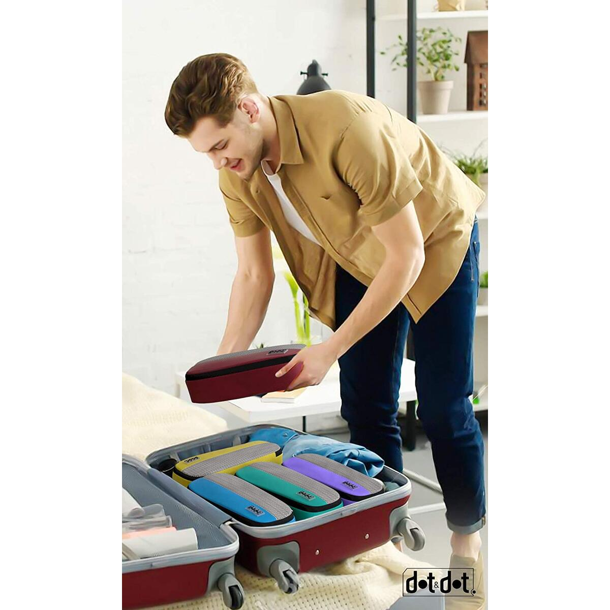 Dot&Dot Slim Packing Cubes for Travel - Luggage Accessories Organizers