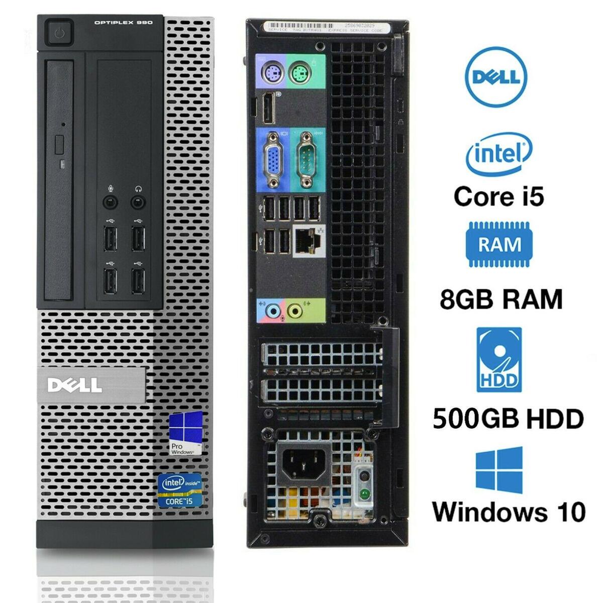 DELL OPTIPLEX 990 SFF I5-2500 3.30GHZ, 8GB RAM, 500GB HDD, DVD-ROM, WIN-10 PRO.