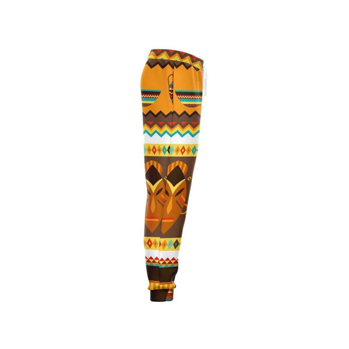 African Djembe Masks Jogger, L