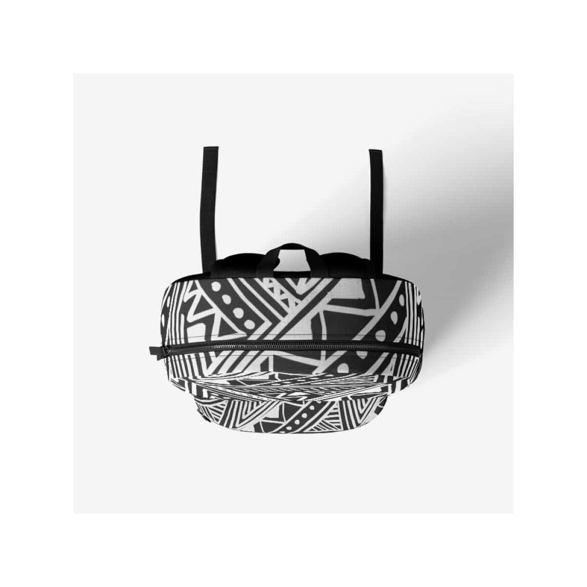 White African Mud Cloth Retro Backpack, Black