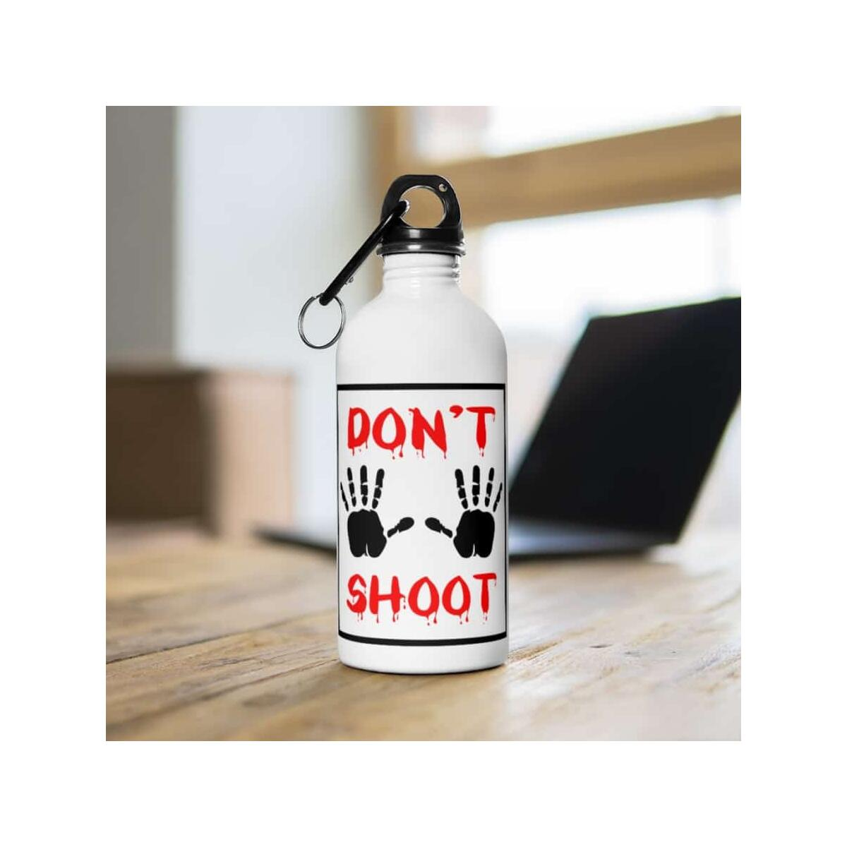 Afrocentric Don't Shoot Red Water Bottle