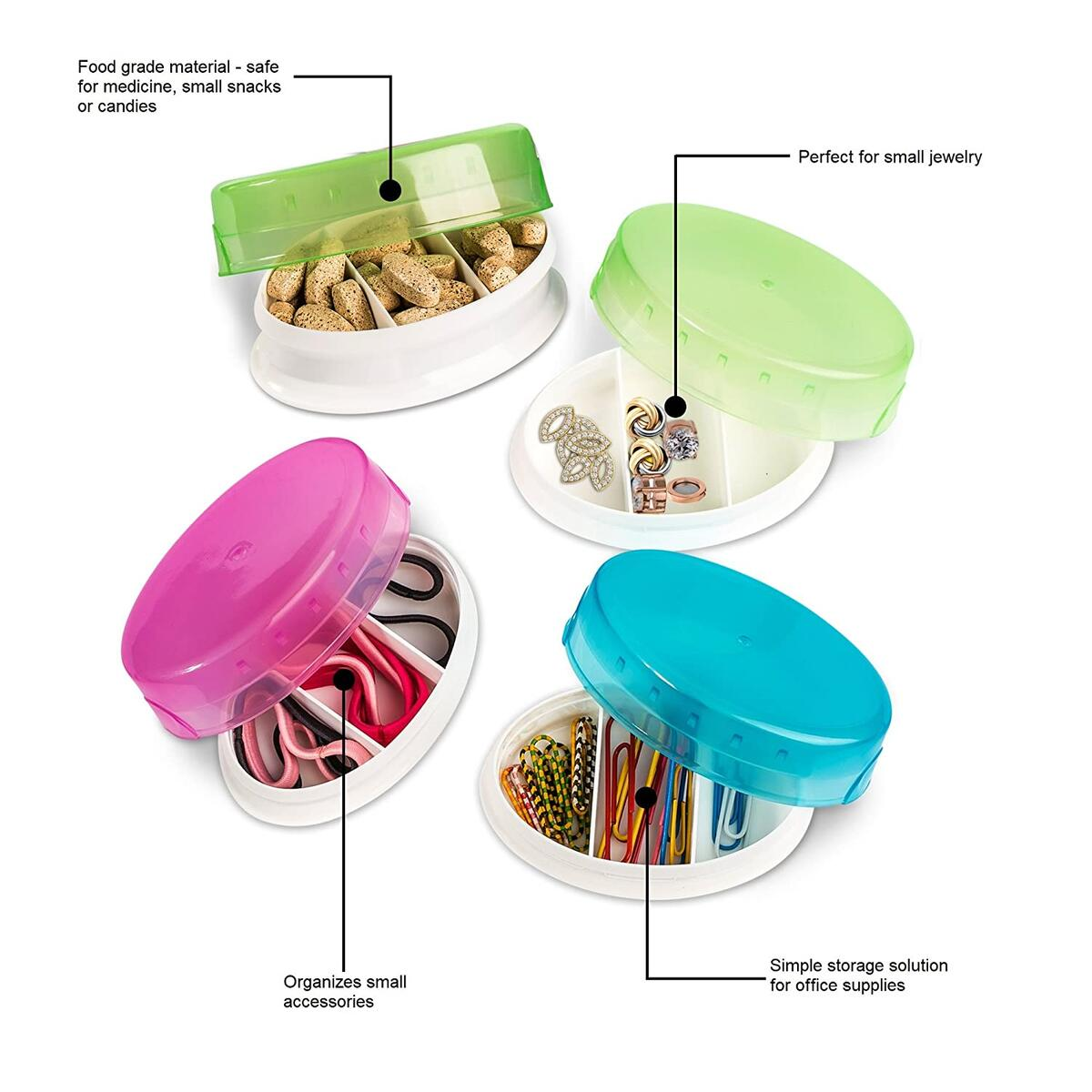 Travel Containers - Portable and Lightweight Medicine Containers with Convenient Compartments, Perfect Pill Holder for Your Travel and Daily Storage
