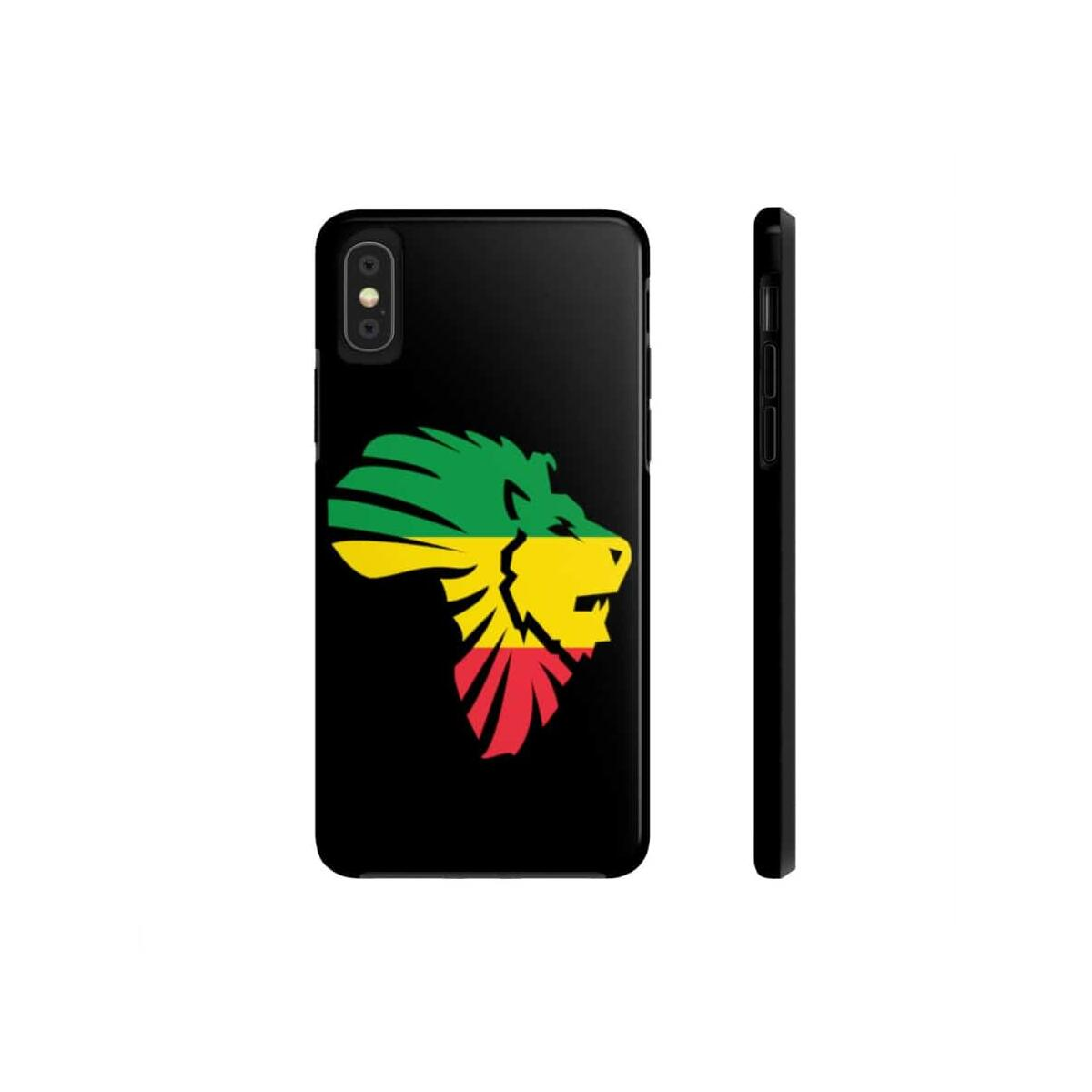 African Lion-Head Case Mate Tough Phone Cases, iPhone XS
