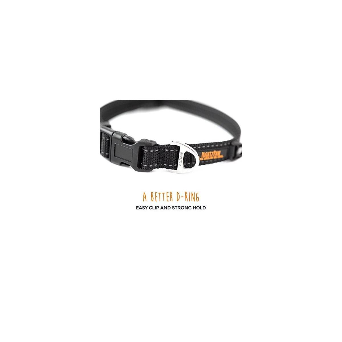 Mighty Paw Reflective Dog Collar, Premium High Visibility Collar