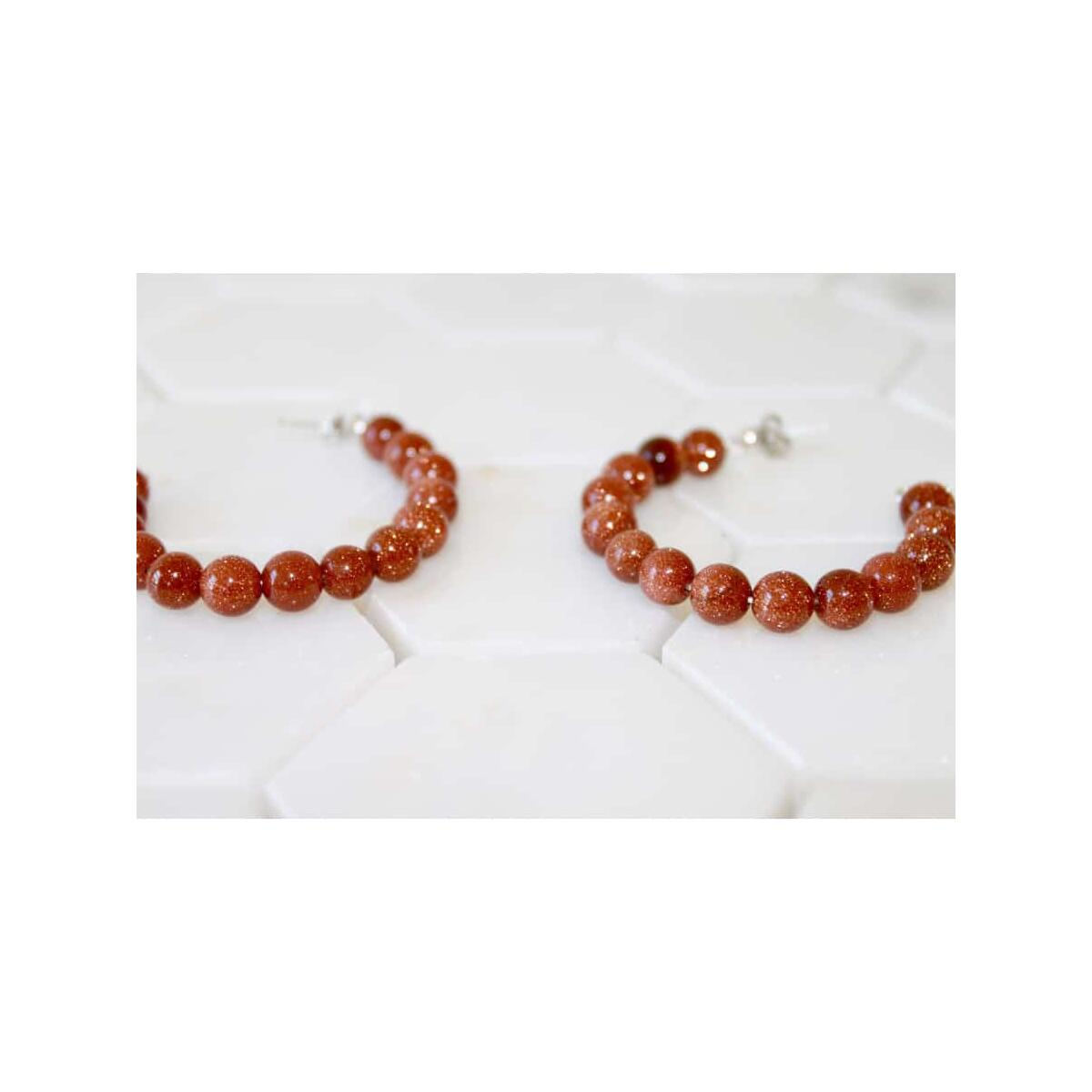Burnt Orange Hoop Earrings