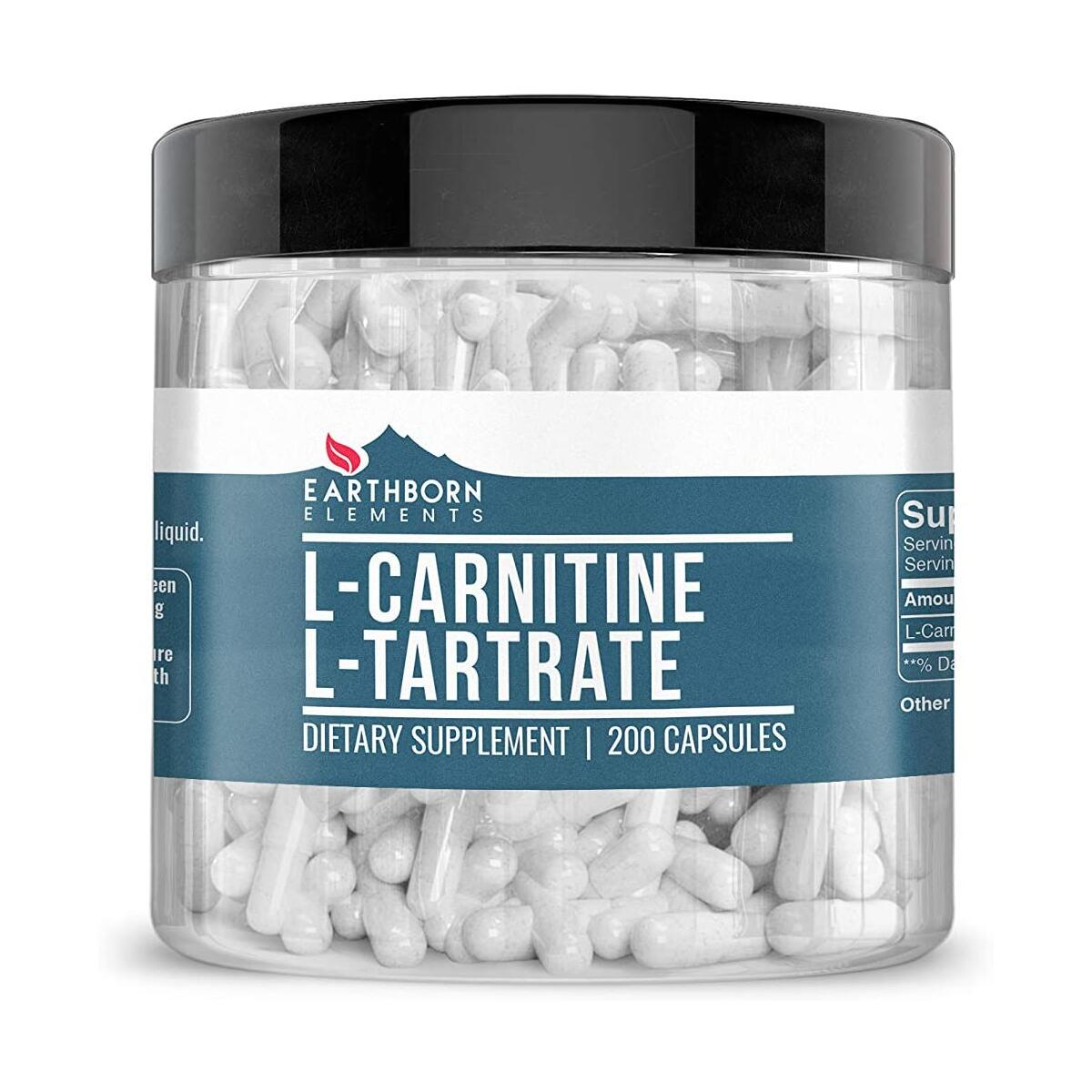L-Carnitine Tartrate, 200 Capsules, 900 mg Serving, No Magnesium or Rice Fillers, No Additives, Gluten-Free, Potent, Undiluted, High Quality, Made in The USA