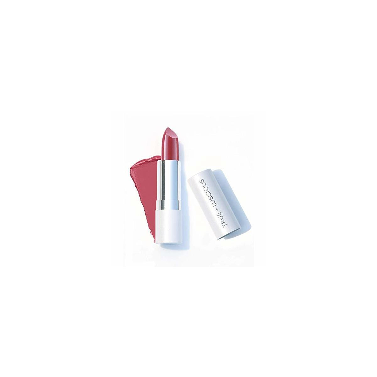 Super Moisture Lipstick by True + Luscious - Clean Formula, Smooth and Hydrating - Vegan and Cruelty Free Lipstick, Non Toxic and Lead Free Shade: Creamy Rose - 0.12 oz