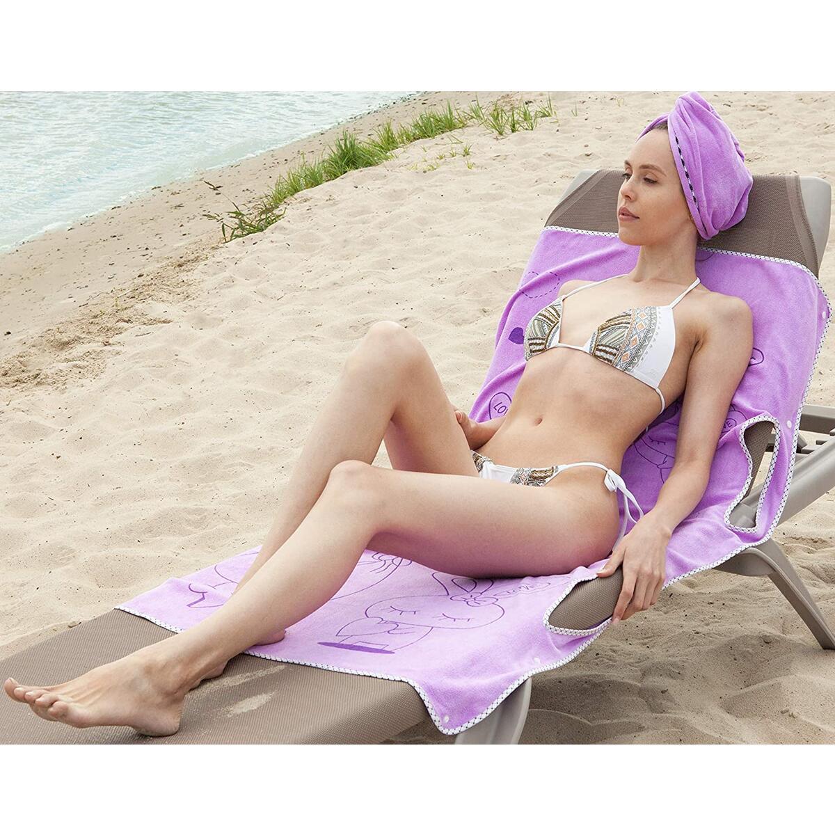 BBMaxPro Microfiber Dress Towel (Purple Skirt Set)