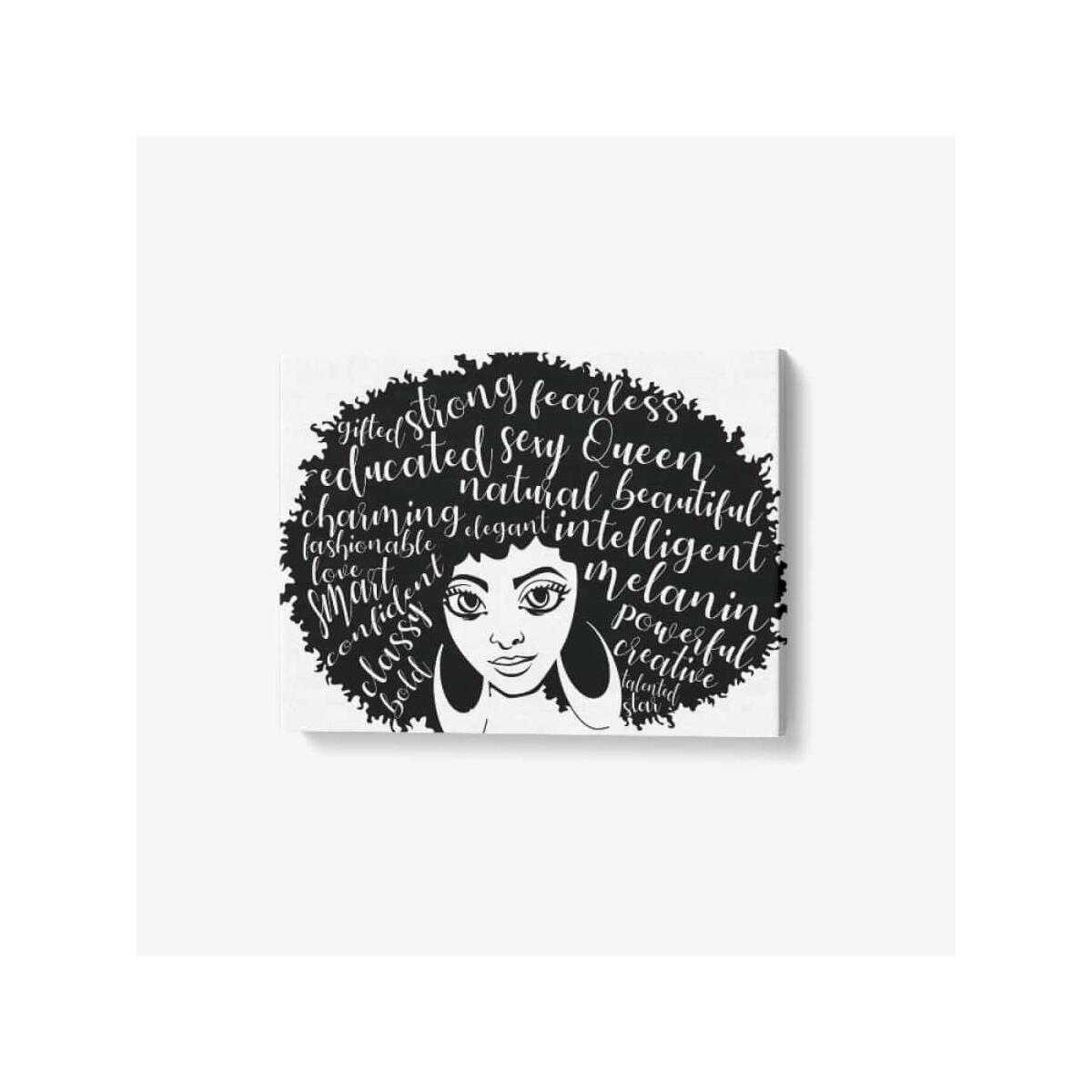 Afro Girl Canvas Wall Art