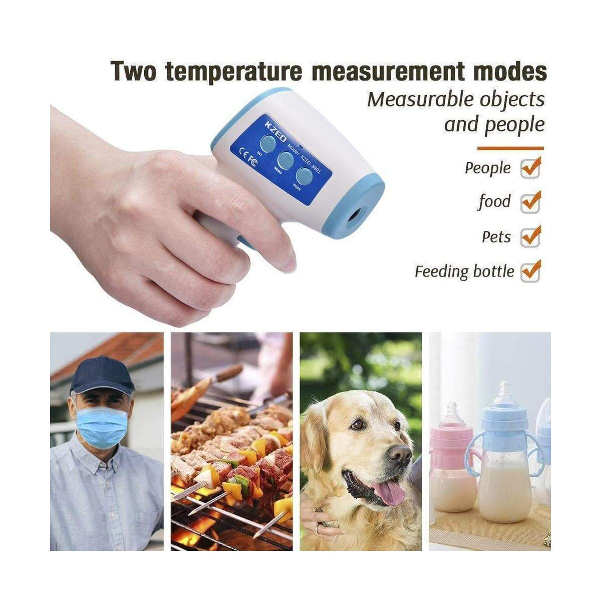 Non-contact IR Digital  Infrared Thermometer Forehead Temperature Measurement LCD Digital Display