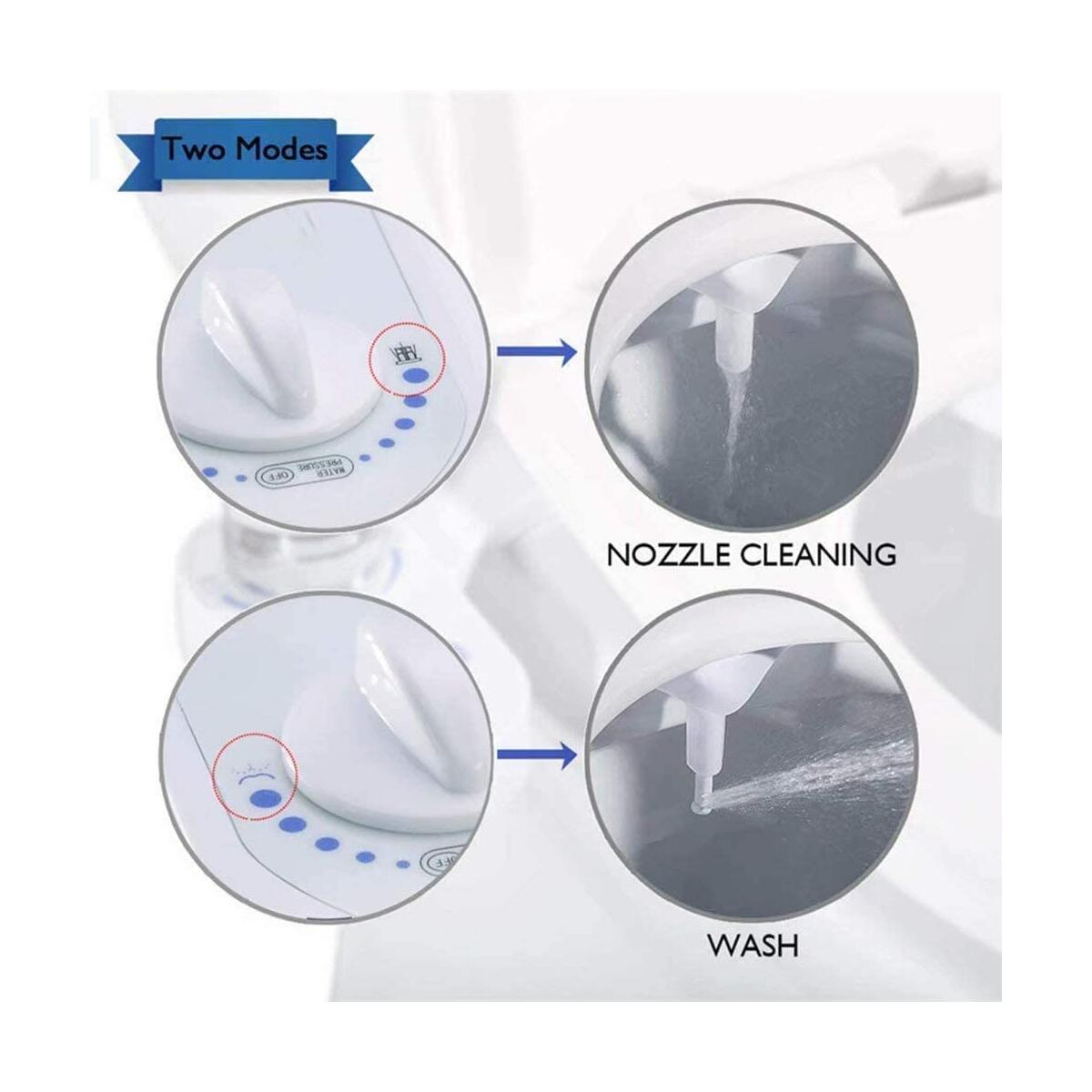 Home Toilet Seat Bidet Self Cleaning Single Nozzle Fresh Water Spray Non-Electric Mechanical Bidet Toilet Attachment for Personal Hygiene Easy to Install Save Toilet Paper