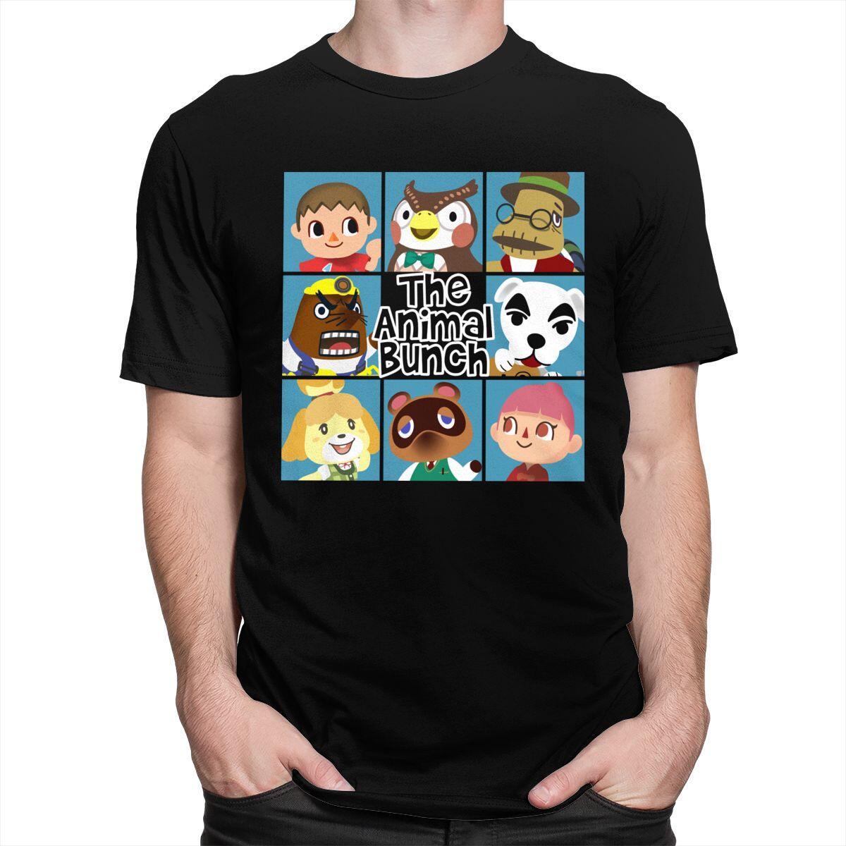 Animal Crossing Brady Bunch Style Shirt, Black / S