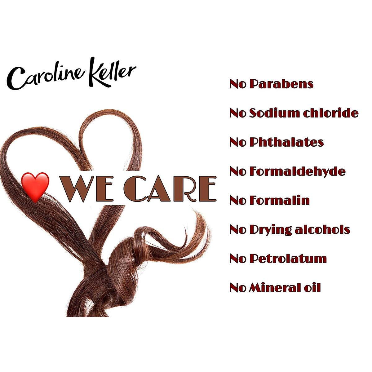 Keratin Shampoo for dry and damaged hair & scalp. With Aragan oil, Avocado oil, Keratin and Vitamins. Specially formulated for Post Keratin Treatments. Salt Free. 16.9 fl.Oz, by Caroline Keller.