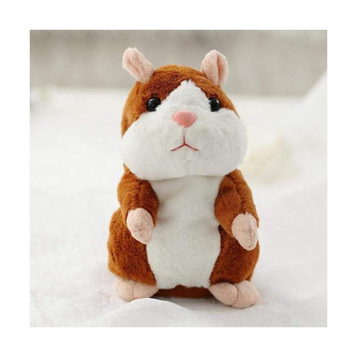 Milo Talking Hamster Plush Toy, Repeats What You Say Plush Animal Toy Electronic Hamster Mouse