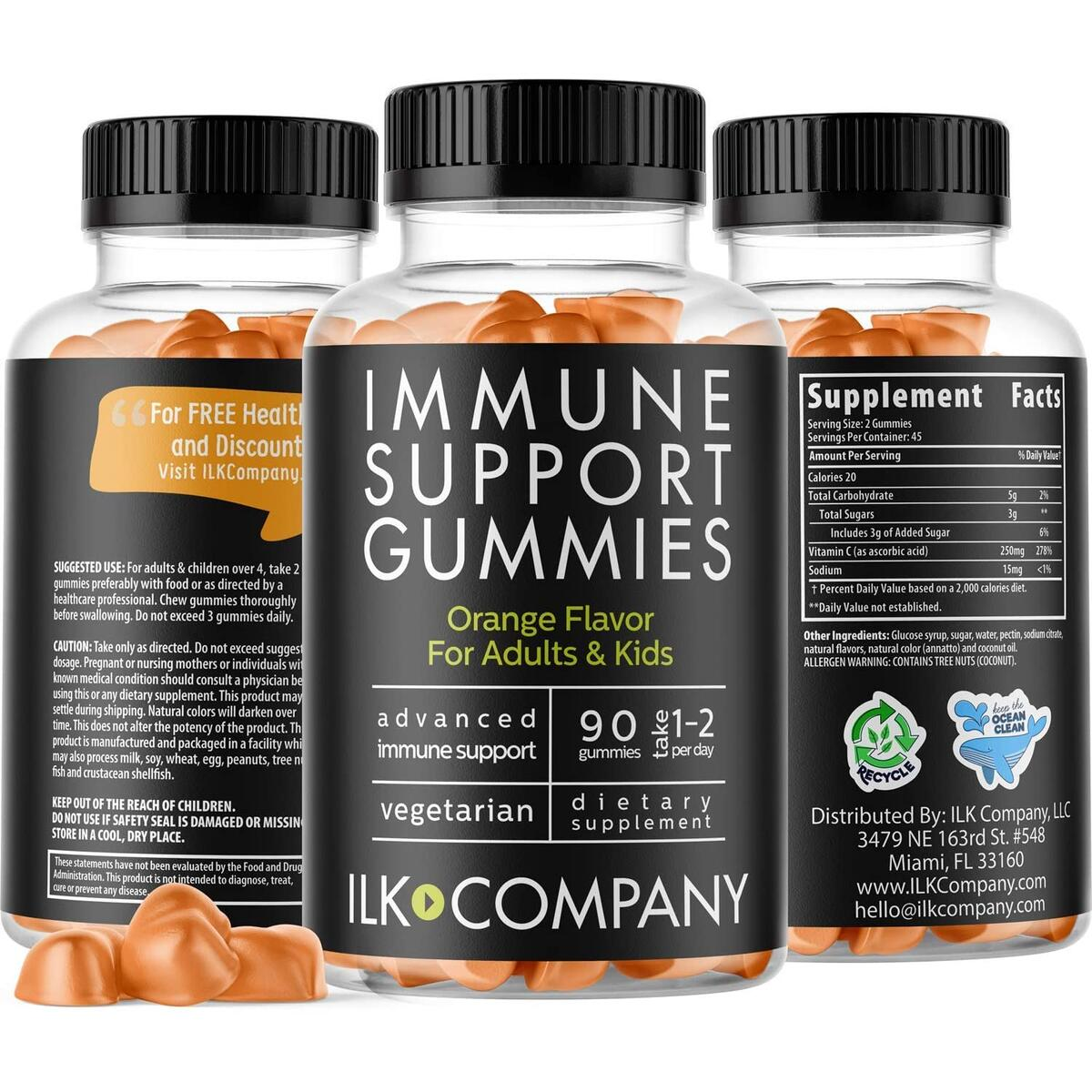 Advanced Immune Support Gummies for Adults & Kids - Once Daily Immune Defense - Promotes Healthy Stress Response - 90 Gummi Drops