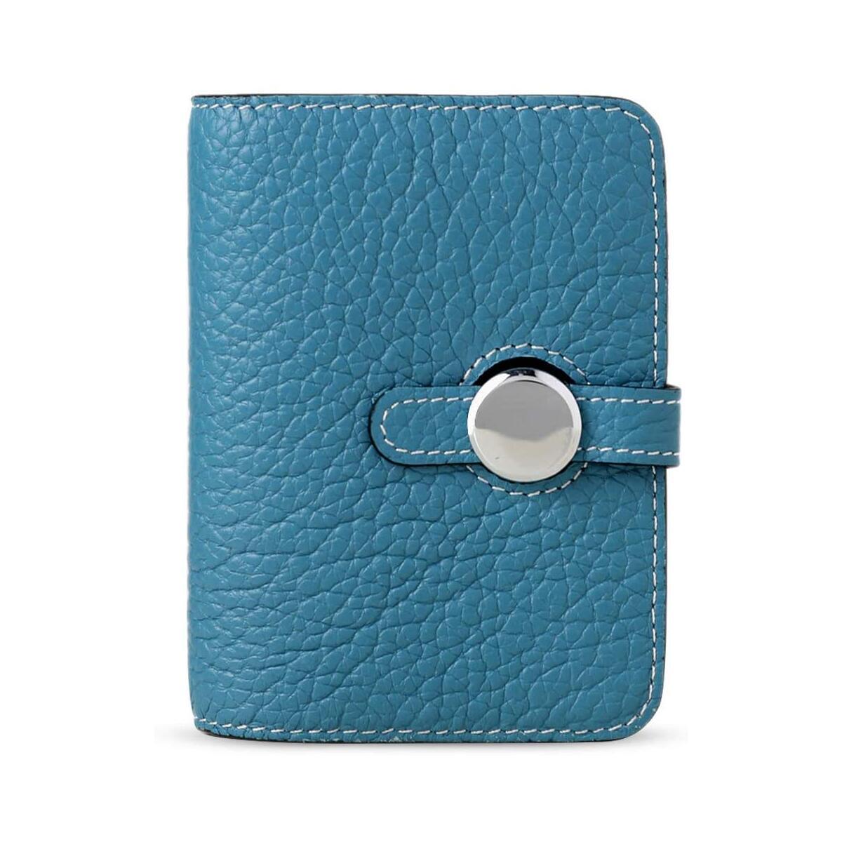 HanZu Small Leather Wallet for Women RFID Blocking Credit Card Holder Mini Bifold Pocket Purse