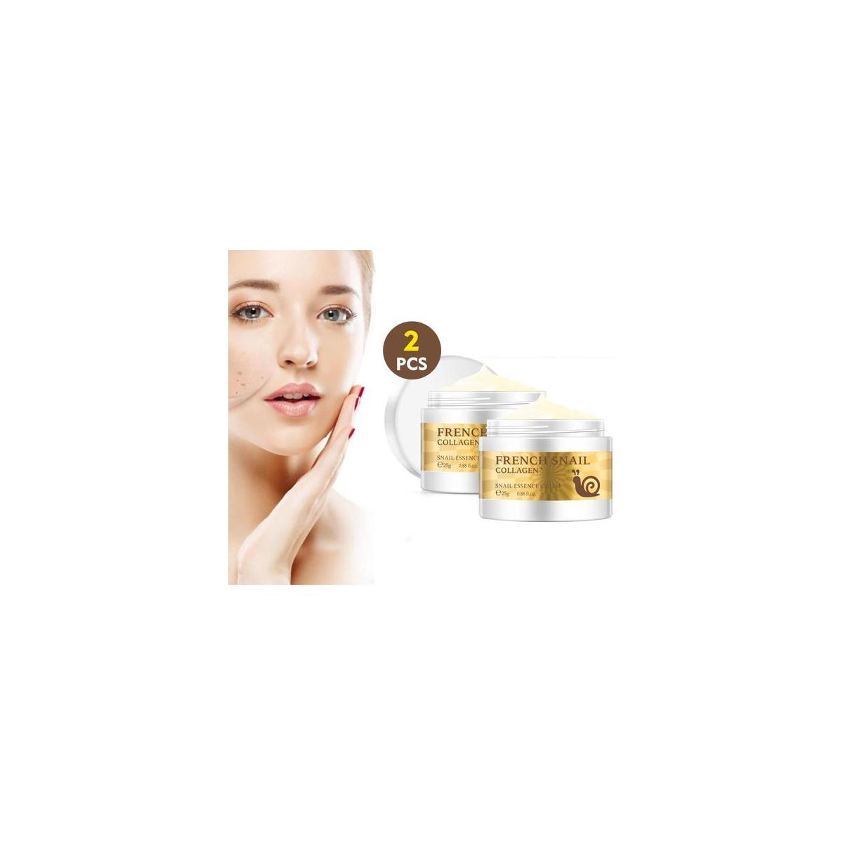 2 Pack - Anti-aging Anti-wrinkle Snail Essence Face Cream Moisturizer Collagen