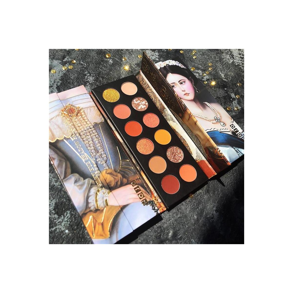 12 Colors Shimmer Matte Eye Shadow Palette, 04