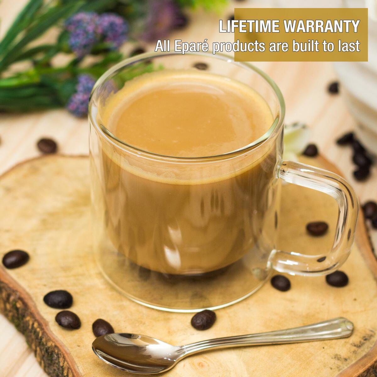 Eparé 8 oz. Latte Glass Mug (Set of 2)