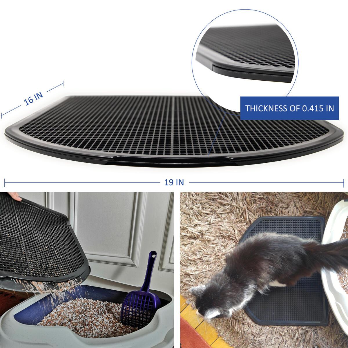 DzelCat SpreadZtrap Cat Litter Mat - ABS Plastic Litter Box Mat for Cats & Dogs - Waterproof 16