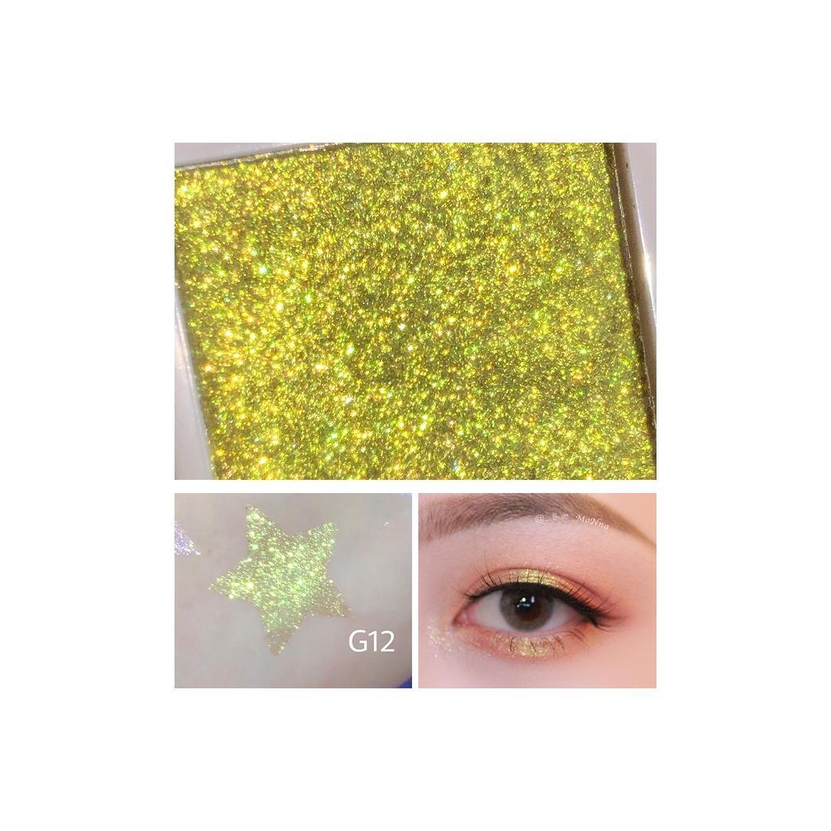1PC Monochrome Holographic Shimmer Glitter Eyeshadow, G15