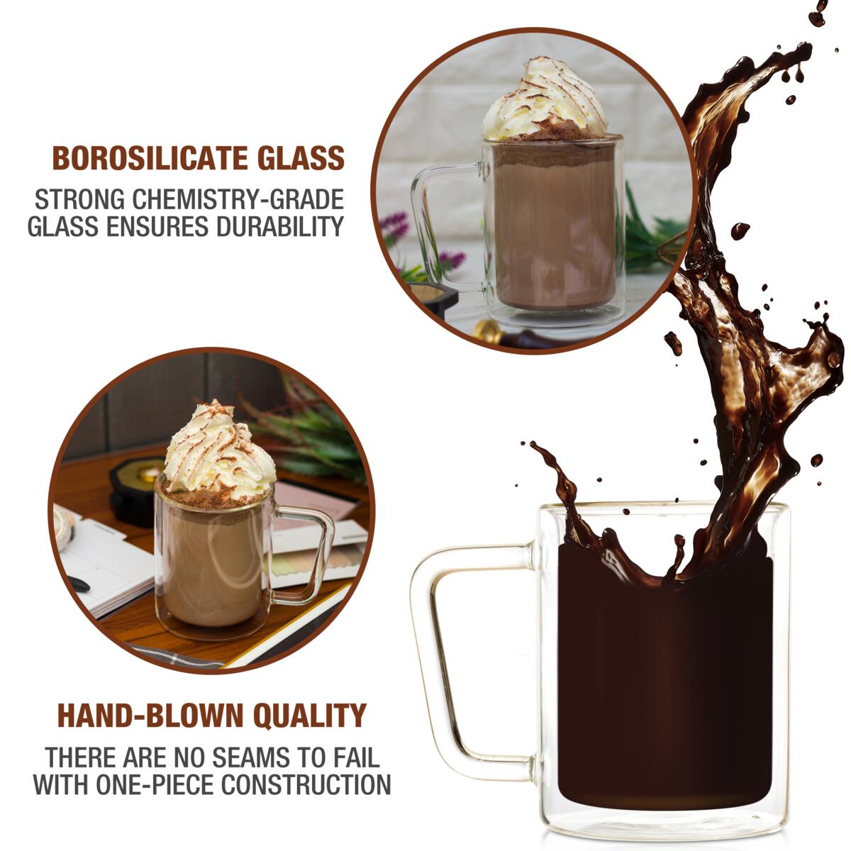Eparé 16oz Retro Large Coffee Mug (Set of 2)