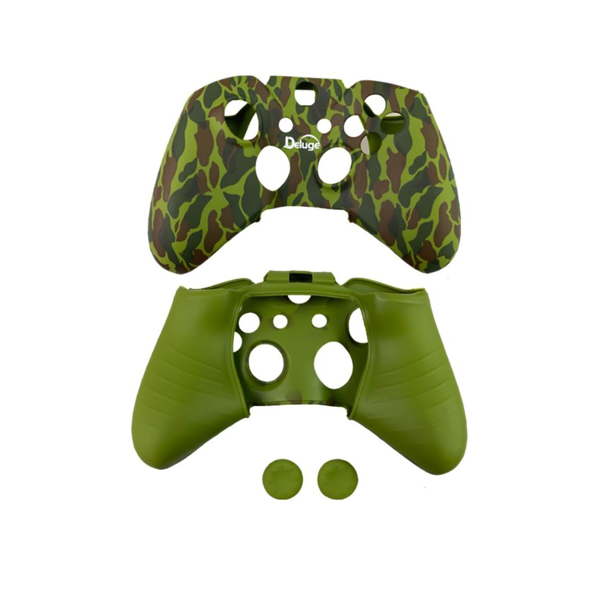 Silicone Rubber Skin Case Gel Cover+ thump Grip For Xbox One Wireless Controller