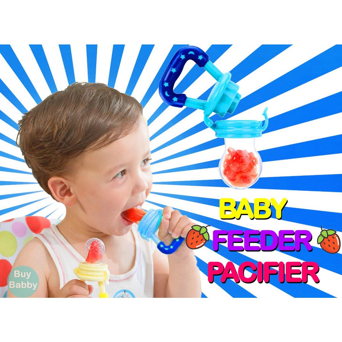 Fruit Feeder Pacifier Fresh Food Feeder, Infant Fruit Teething Toy, Silicone Pouches for Toddlers & Kids by Buy Babby™
