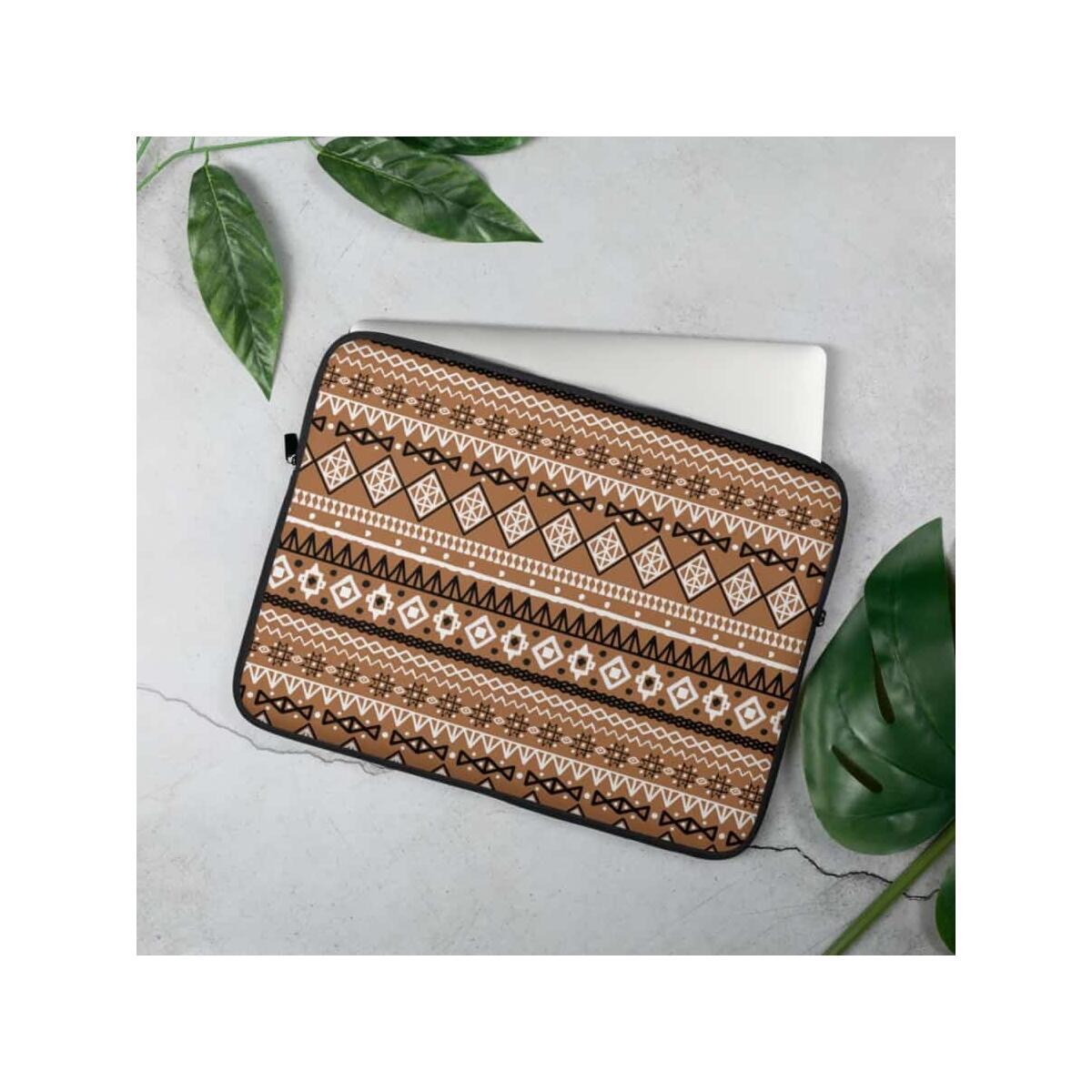 Brown Afrocentric Laptop Sleeve