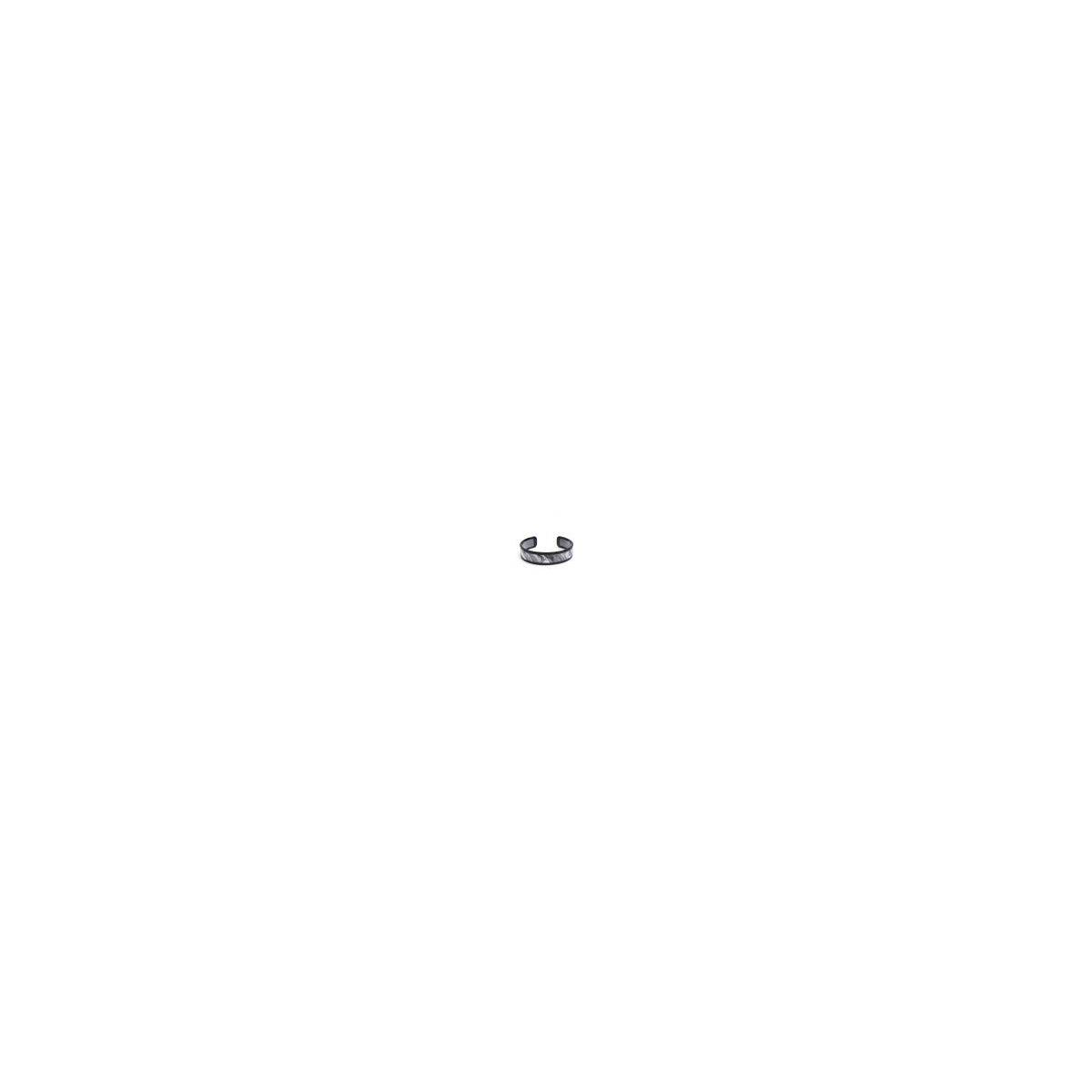 Skinny Lined Tortoise Cuff Bracelet | Stylish Costume Jewelry, Gray
