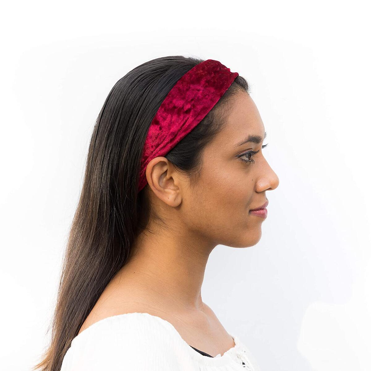 5 pack velvet headbands for women accessory for women Head Wraps Head Bands for Women and Girls