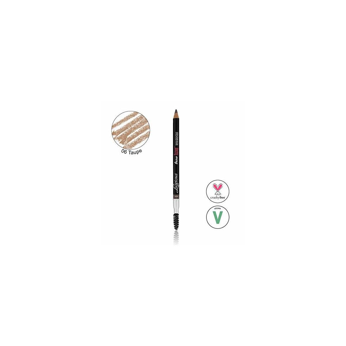 Brow Luxe Definer Pencil by True + Luscious - Vegan, Paraben Free, Cruelty Free Eyebrow Pencil with Sweat-Proof Formula - 0.07 oz (Shade: Taupe)