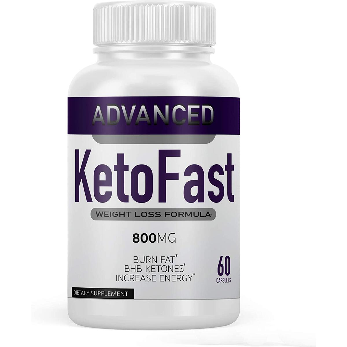 Keto Fast Diet Pills, Keto Fast Burn Weight Management Capsules 800 mg, Pure Keto Fast Supplement for Energy, Focus - BHB Ultra Boost Exogenous Ketones for Rapid Ketosis for Men Women