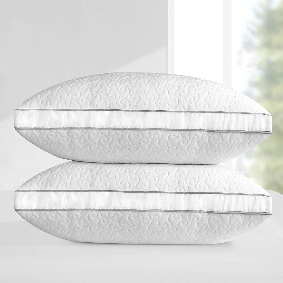 Leeden Bed Pillows for Sleeping 2 Pack Standard Size for Side and Back Sleepers, Hotel Luxury Pillows, Soft Standard Pillow 20'' x 26''